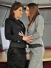 Defrancesca Gallardo_and_Eufrat in Lesbian Office Excecutives